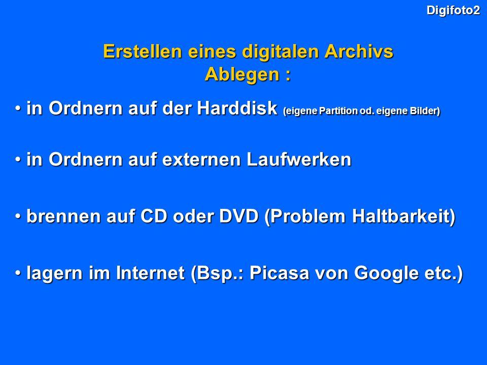 Erstellen eines digitalen Archivs Ablegen :