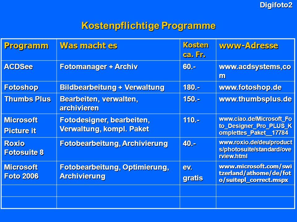 Kostenpflichtige Programme