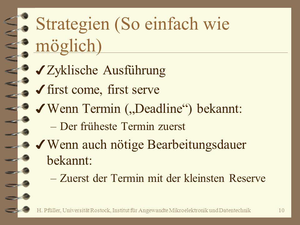 Strategien (So einfach wie möglich)