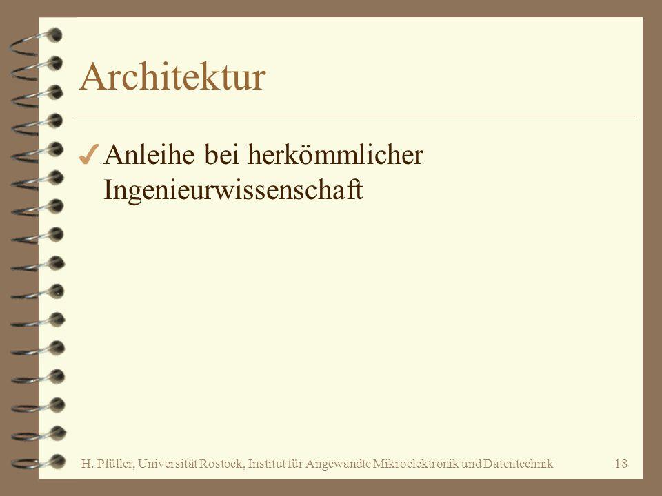 Architektur Anleihe bei herkömmlicher Ingenieurwissenschaft