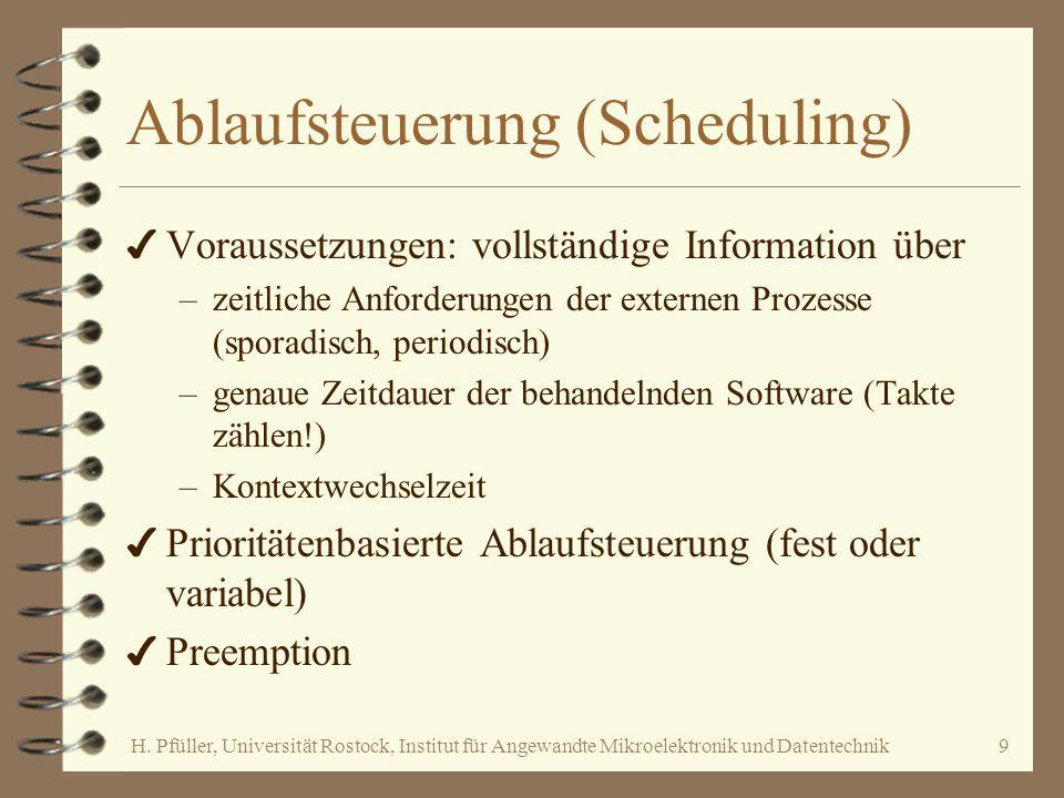 Ablaufsteuerung (Scheduling)