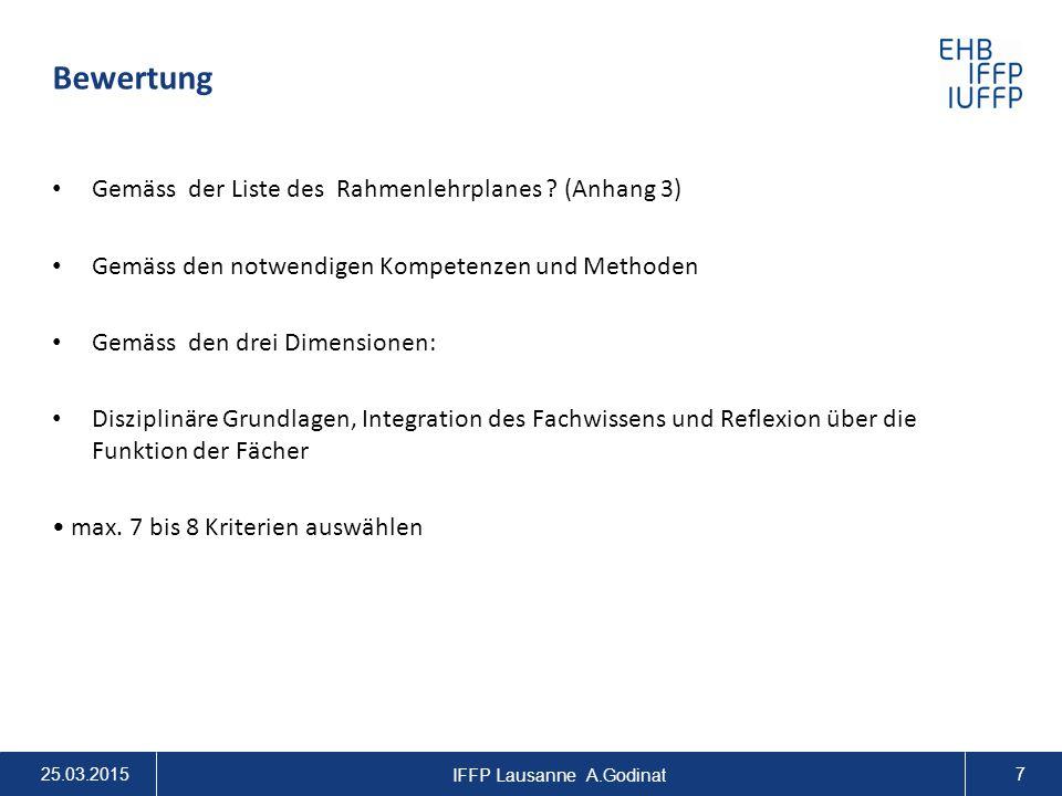 IFFP Lausanne A.Godinat