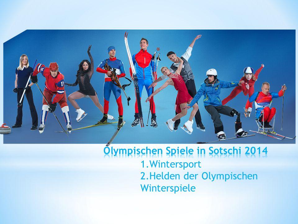 Olympischen Spiele in Sotschi 2014