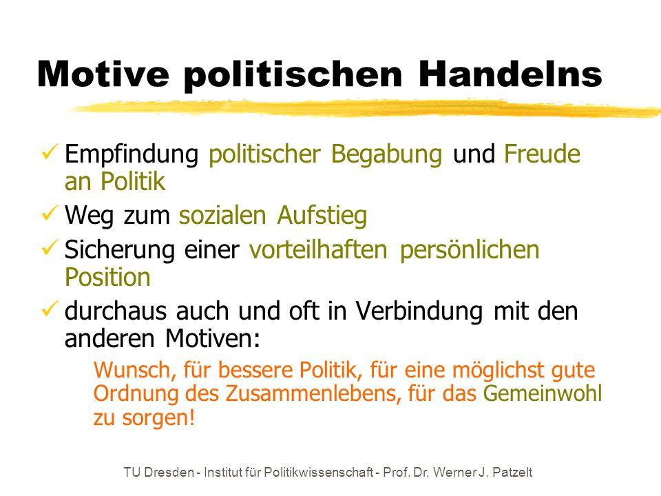 Motive politischen Handelns