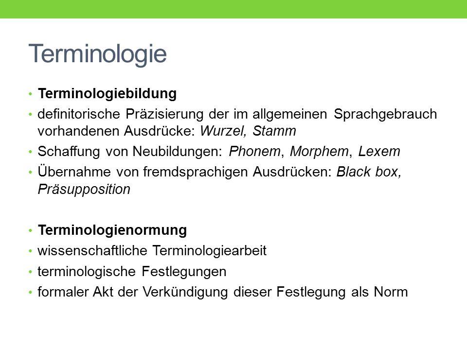 Terminologie Terminologiebildung