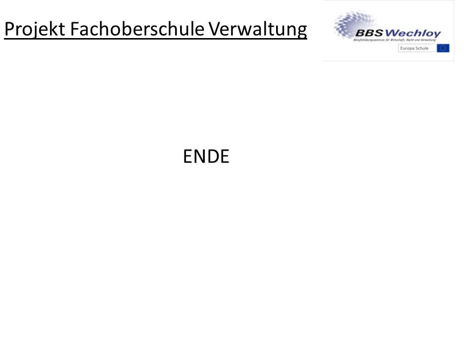 Projekt Fachoberschule Verwaltung
