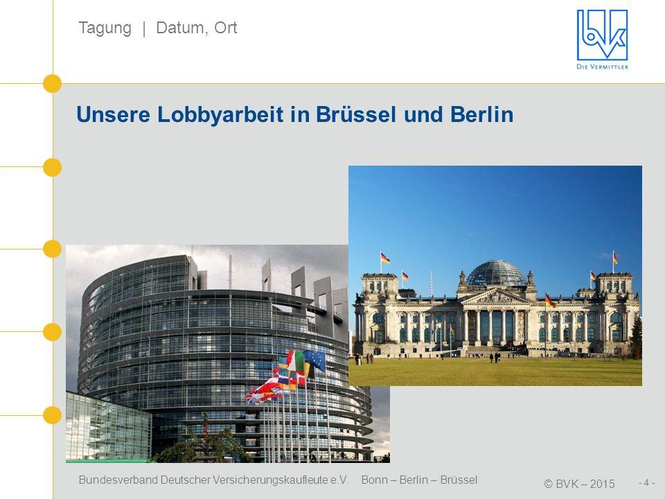 Unsere Lobbyarbeit in Brüssel und Berlin