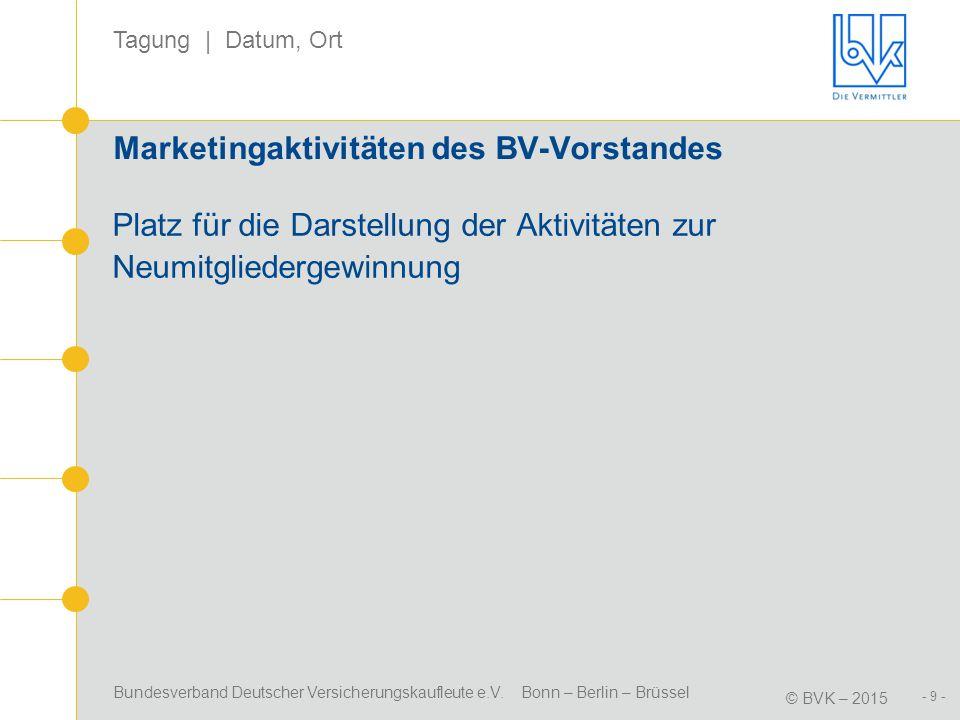 Marketingaktivitäten des BV-Vorstandes