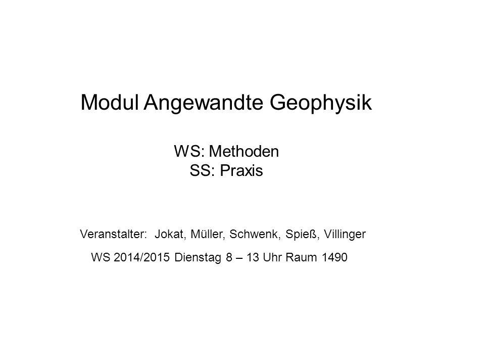 Modul Angewandte Geophysik