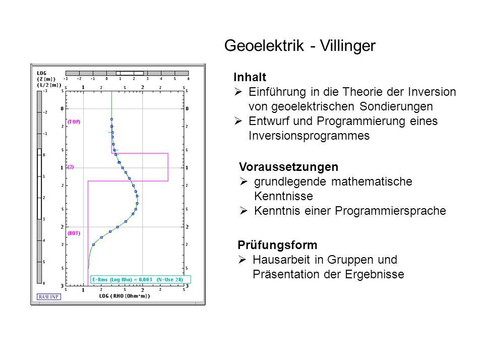 Geoelektrik - Villinger