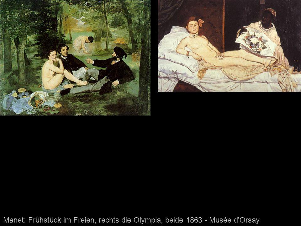 Manet: Frühstück im Freien, rechts die Olympia, beide 1863 - Musée d Orsay