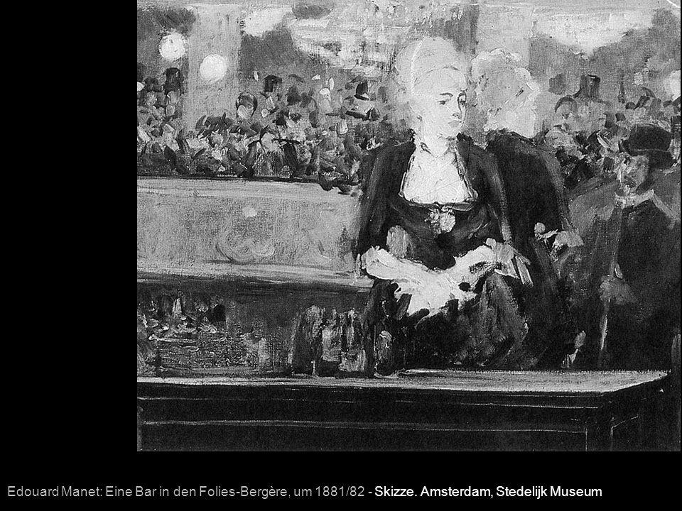 Edouard Manet: Eine Bar in den Folies-Bergère, um 1881/82 - Skizze