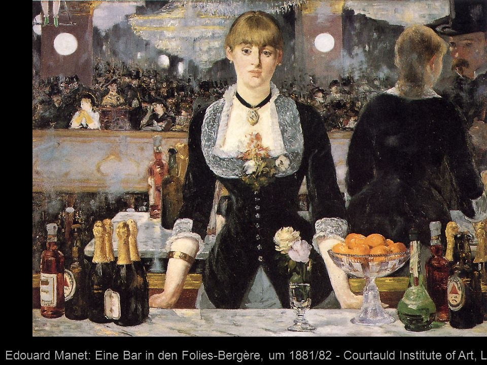 Edouard Manet: Eine Bar in den Folies-Bergère, um 1881/82 - Courtauld Institute of Art, London