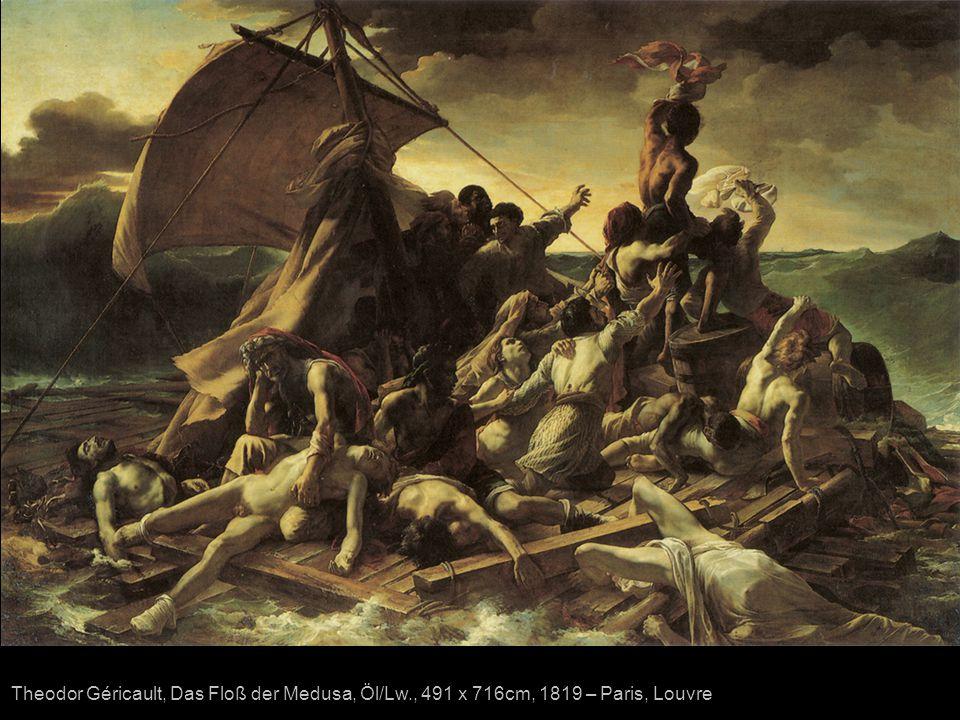Theodor Géricault, Das Floß der Medusa, Öl/Lw