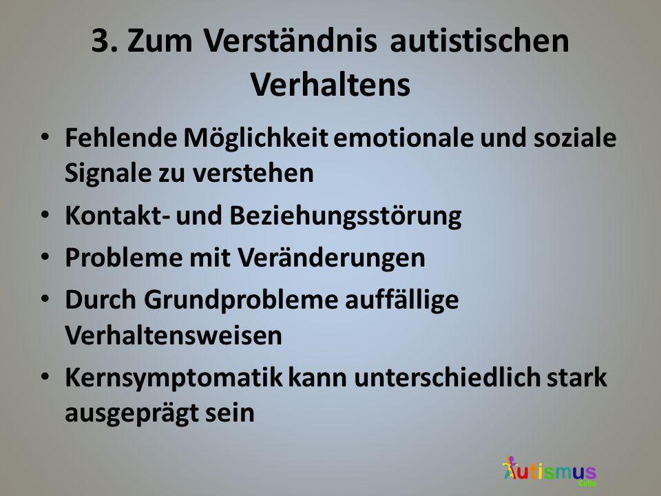 3. Zum Verständnis autistischen Verhaltens
