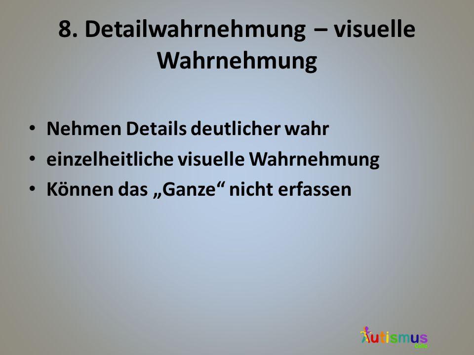8. Detailwahrnehmung – visuelle Wahrnehmung