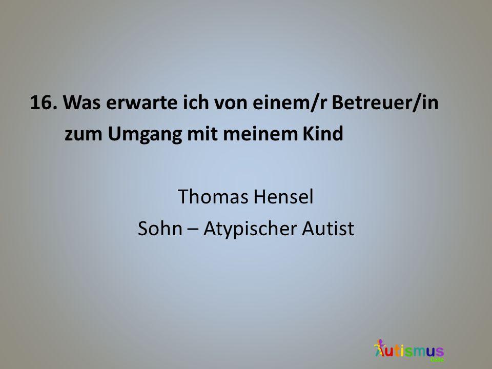 Sohn – Atypischer Autist
