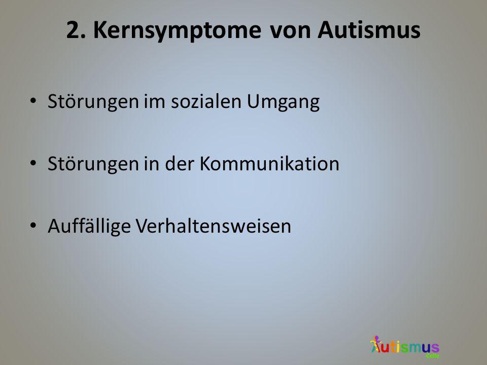 2. Kernsymptome von Autismus