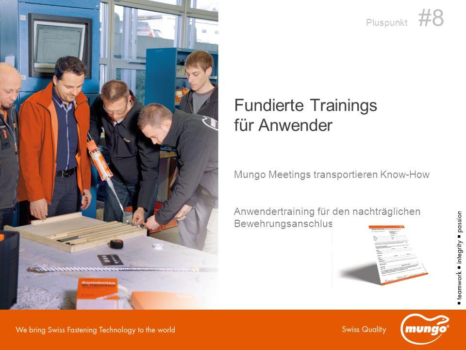 Fundierte Trainings für Anwender