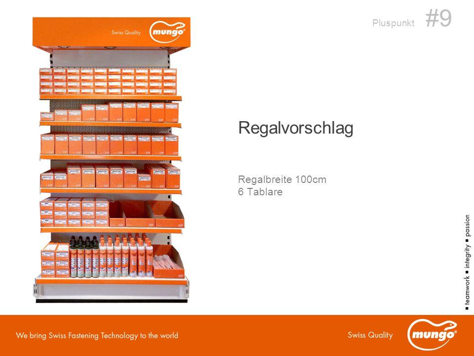 Pluspunkt #9 Regalvorschlag Regalbreite 100cm 6 Tablare