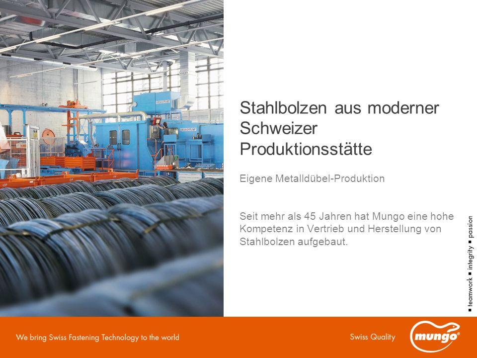 Stahlbolzen aus moderner Schweizer Produktionsstätte