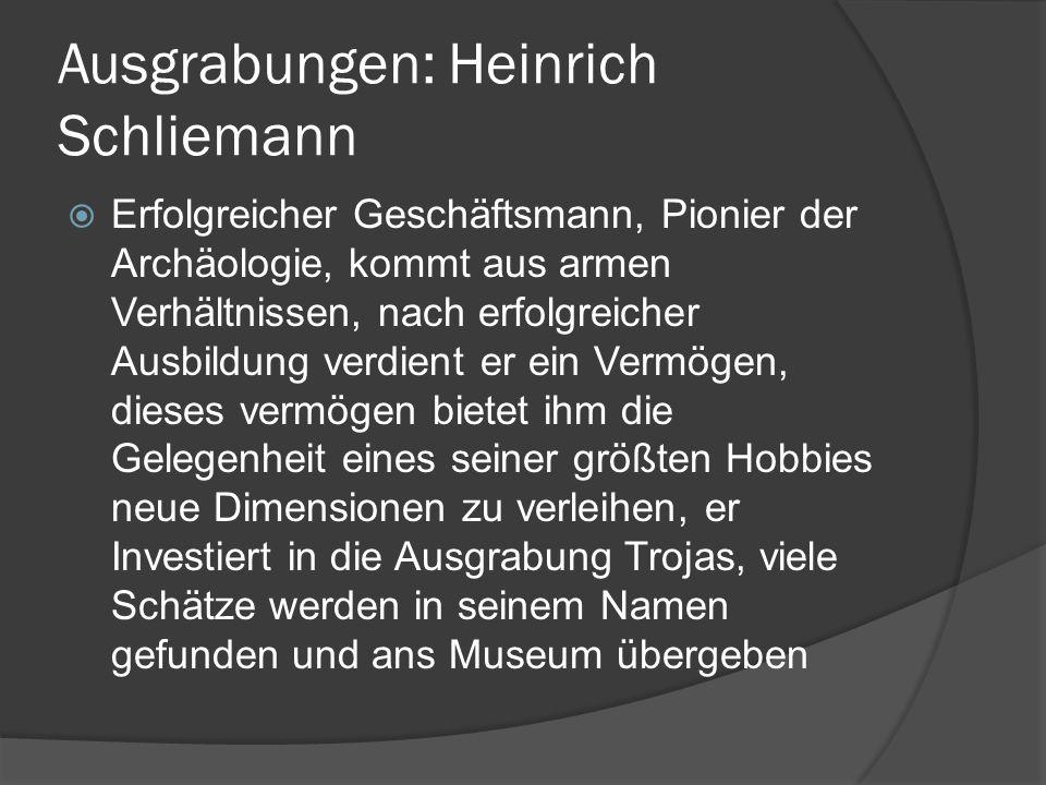 Ausgrabungen: Heinrich Schliemann