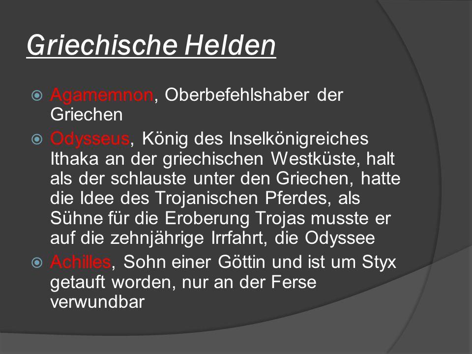 Griechische Helden Agamemnon, Oberbefehlshaber der Griechen