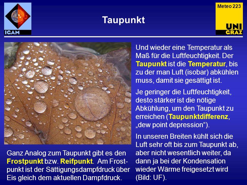 Meteo 223 Taupunkt.