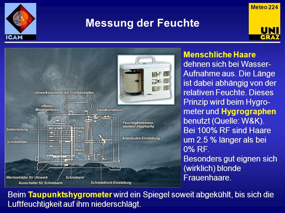 Meteo 224 Messung der Feuchte.