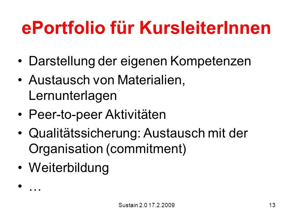 ePortfolio für KursleiterInnen