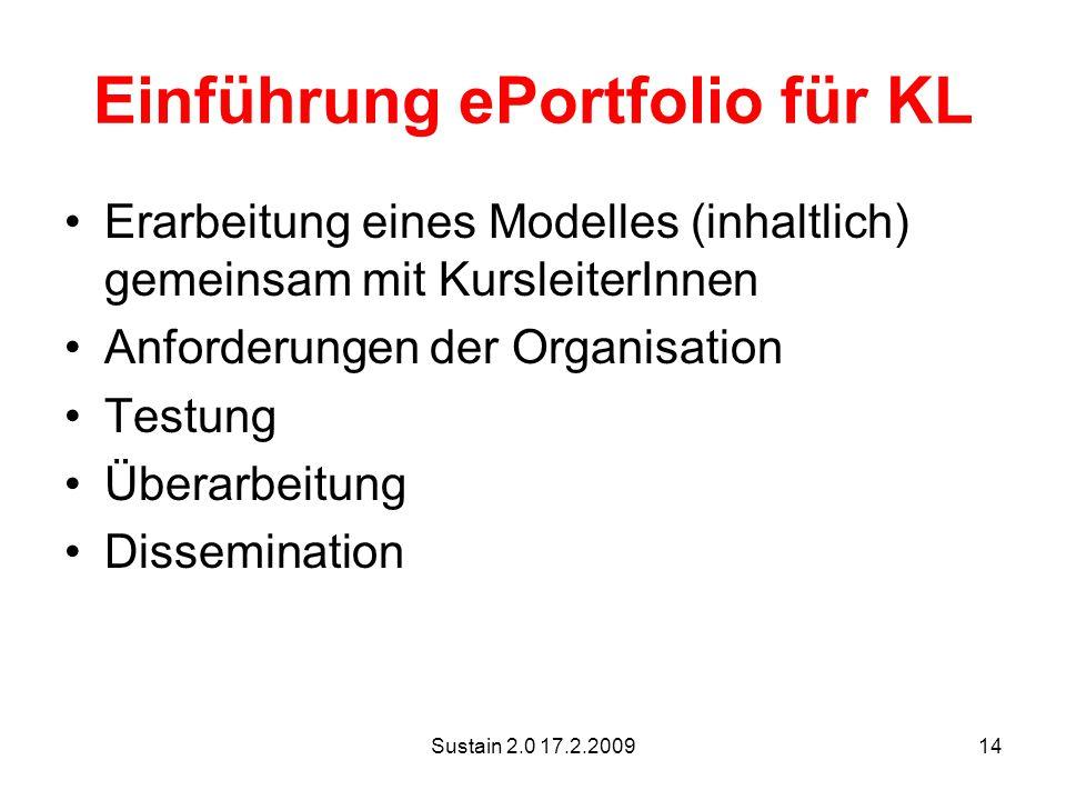 Einführung ePortfolio für KL