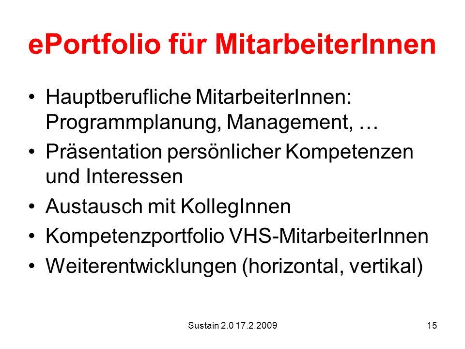 ePortfolio für MitarbeiterInnen