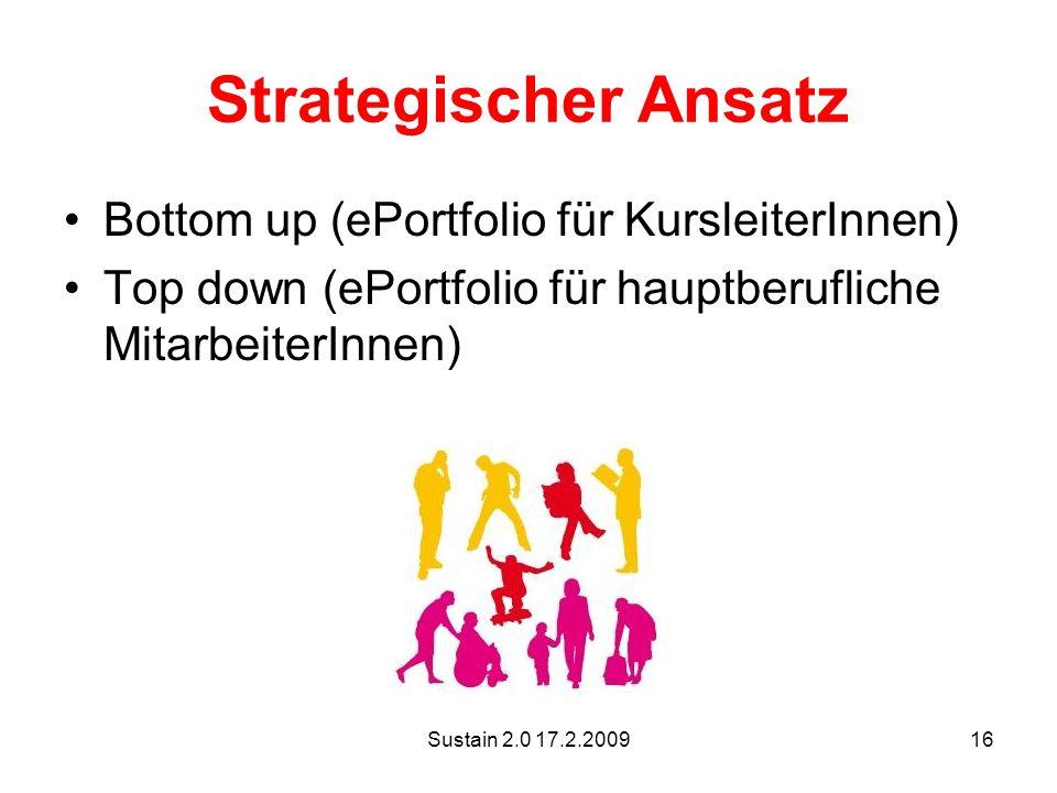 Strategischer Ansatz Bottom up (ePortfolio für KursleiterInnen)