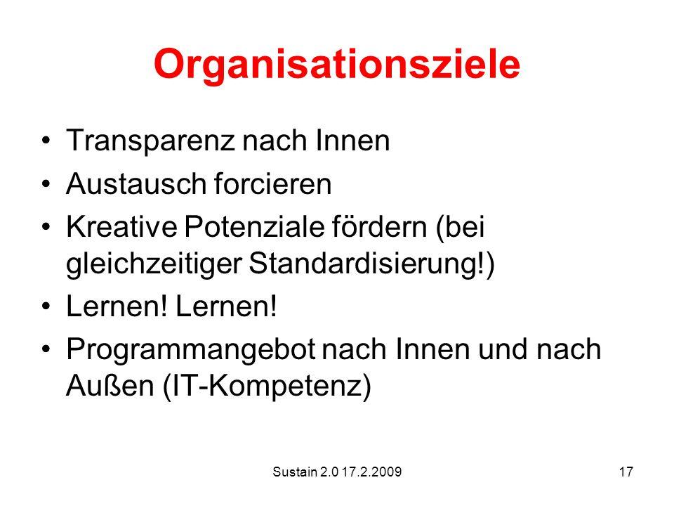 Organisationsziele Transparenz nach Innen Austausch forcieren