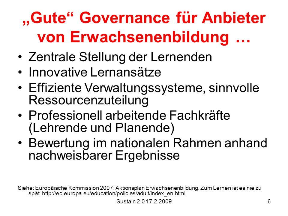 """""""Gute Governance für Anbieter von Erwachsenenbildung …"""