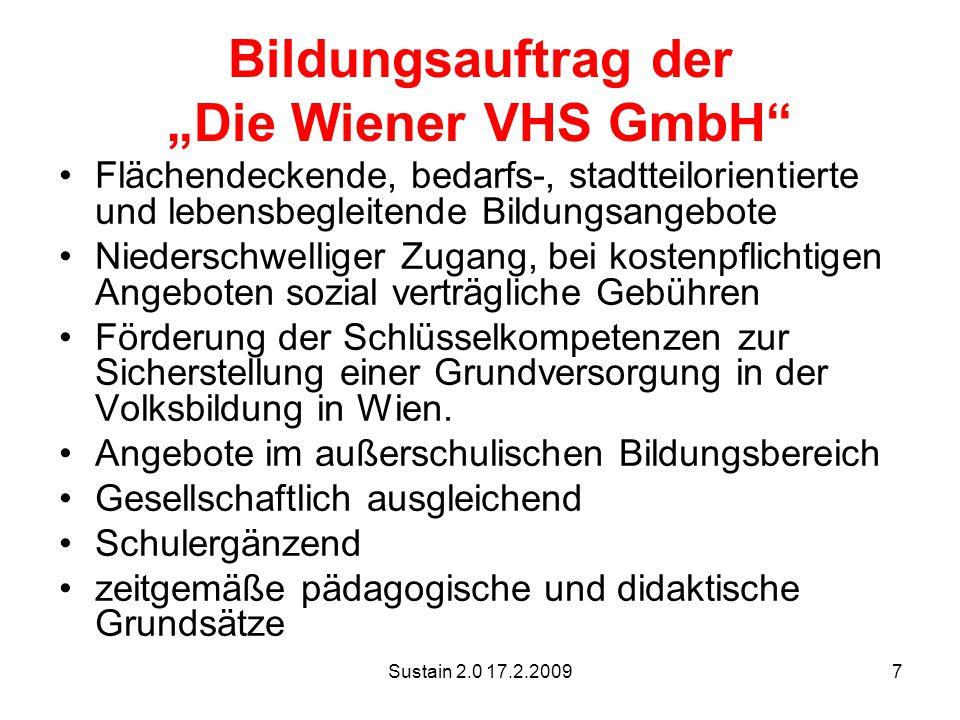 """Bildungsauftrag der """"Die Wiener VHS GmbH"""