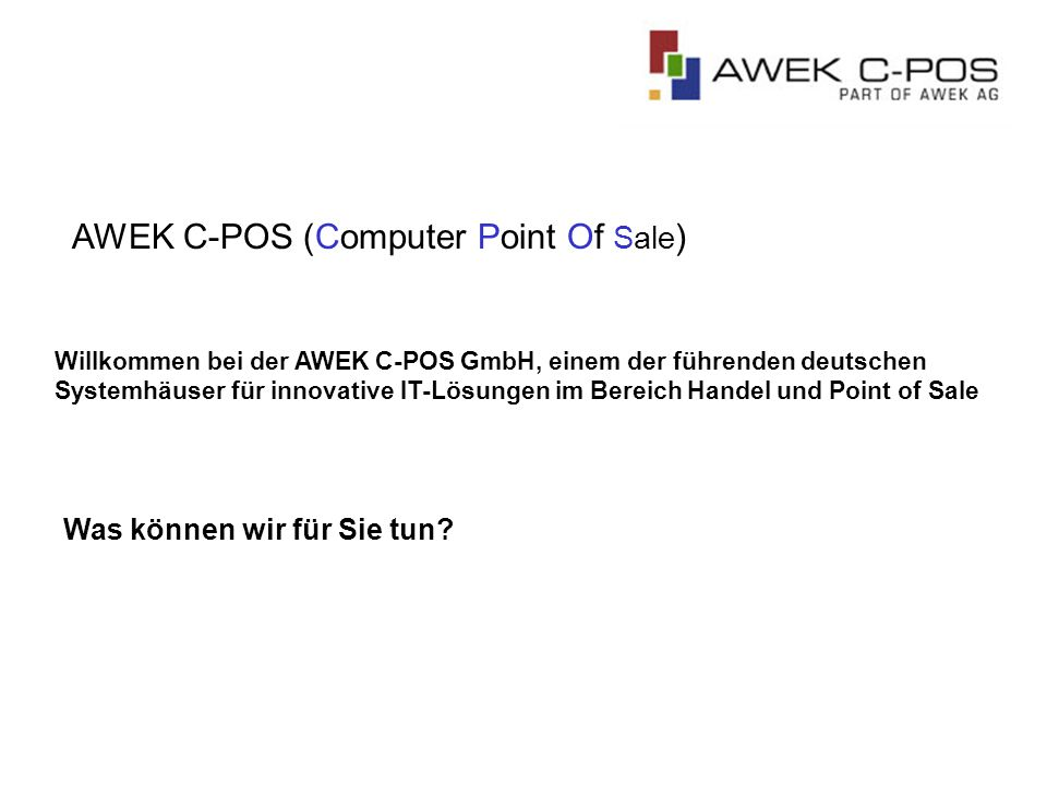 AWEK C-POS (Computer Point Of Sale)