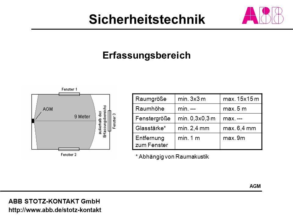 Erfassungsbereich Raumgröße min. 3x3 m max. 15x15 m Raumhöhe min. ---