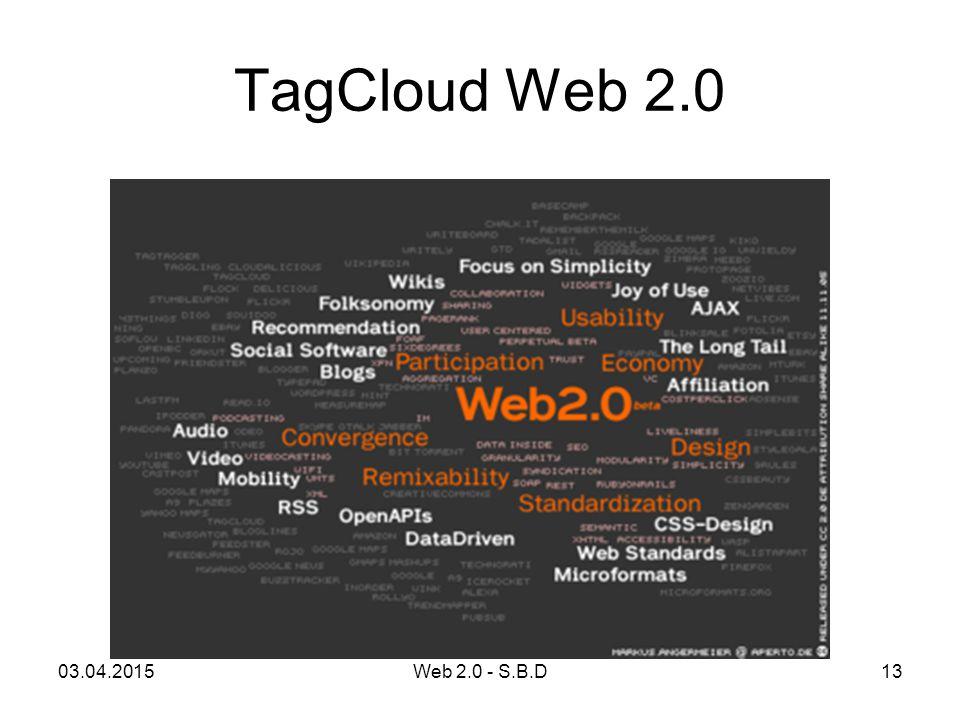 TagCloud Web 2.0 10.04.2017 Web 2.0 - S.B.D