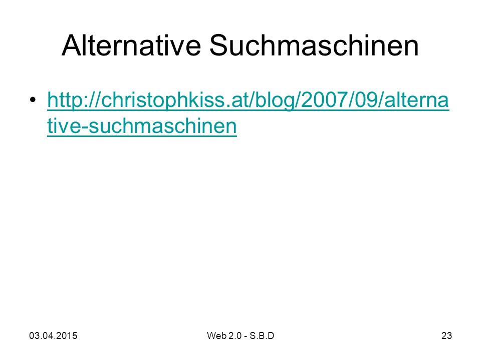 Alternative Suchmaschinen