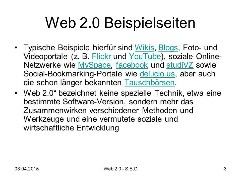 Web 2.0 Beispielseiten