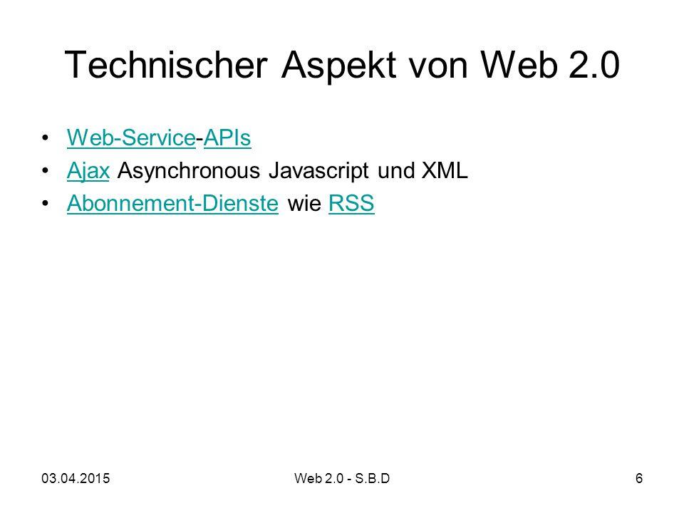 Technischer Aspekt von Web 2.0