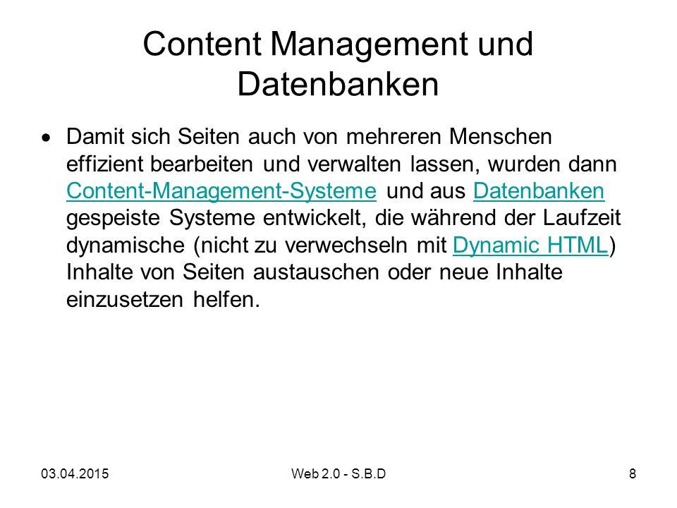 Content Management und Datenbanken