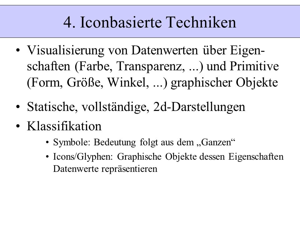 4. Iconbasierte Techniken