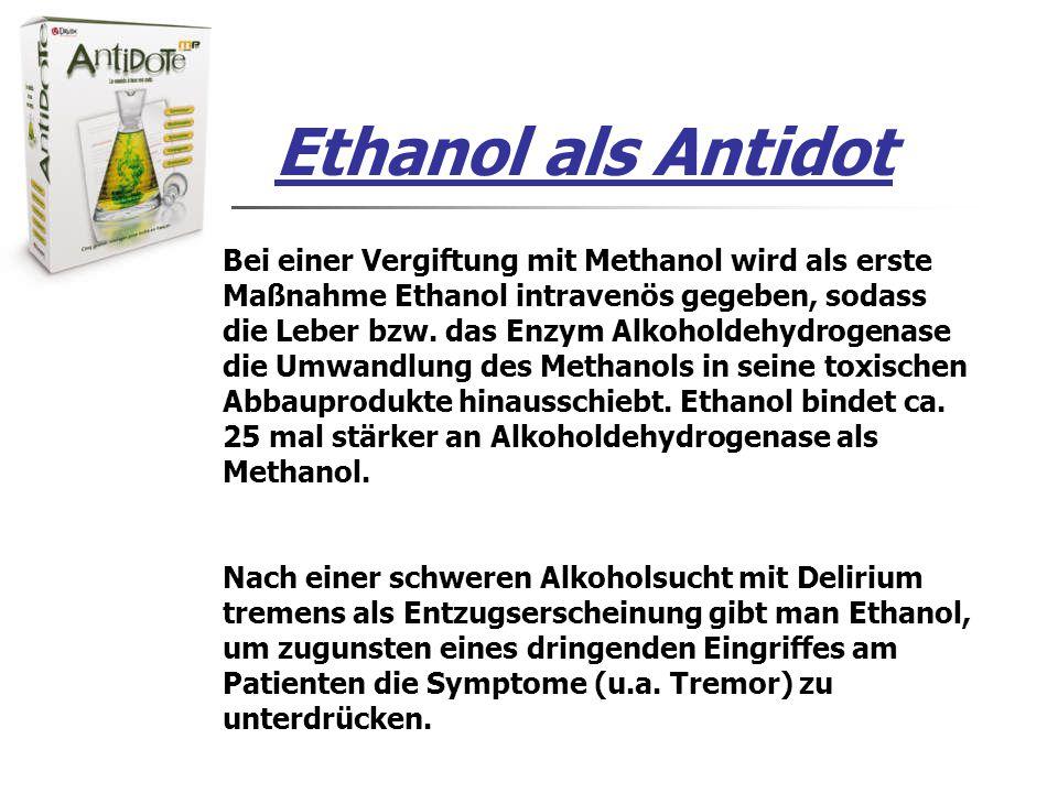 Ethanol als Antidot