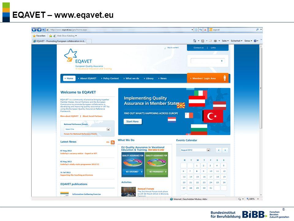 EQAVET – www.eqavet.eu