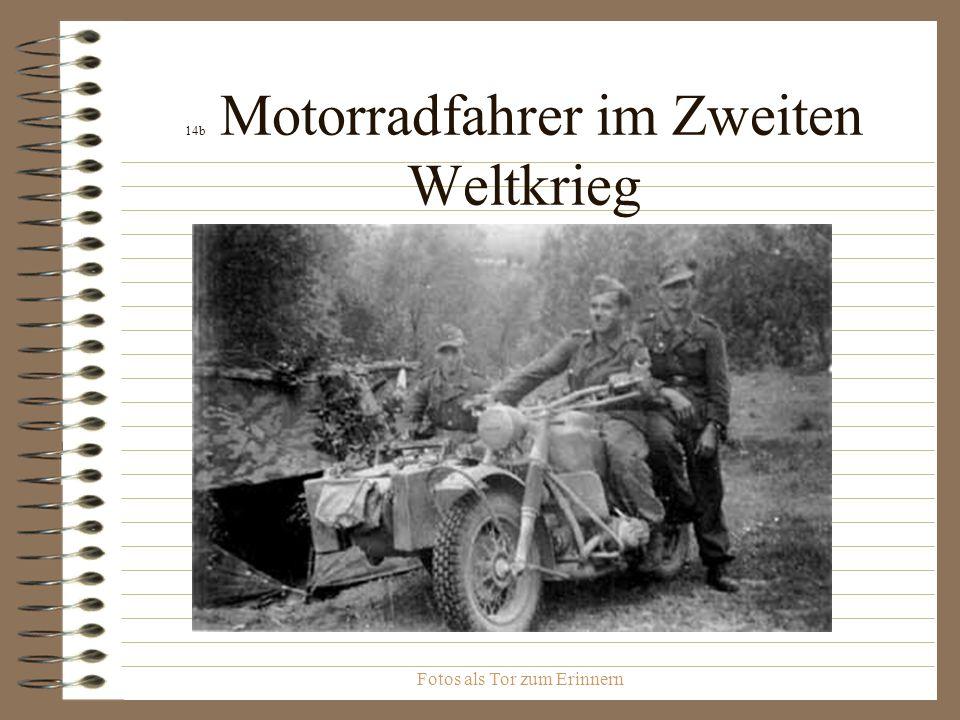 14b Motorradfahrer im Zweiten Weltkrieg