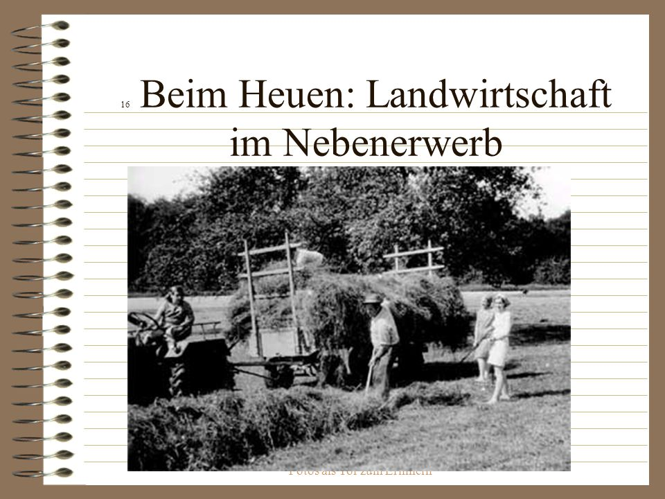 16 Beim Heuen: Landwirtschaft im Nebenerwerb