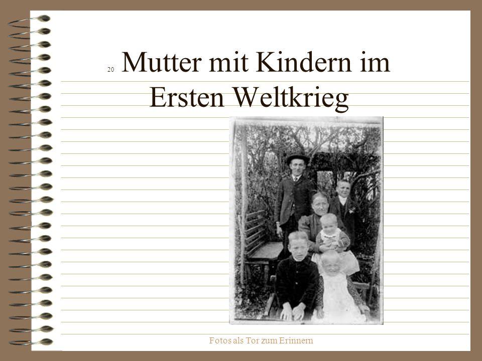 20 Mutter mit Kindern im Ersten Weltkrieg