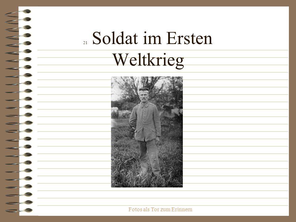 21 Soldat im Ersten Weltkrieg